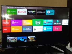 налаштування Smart TV в Sony KD-43XF7596